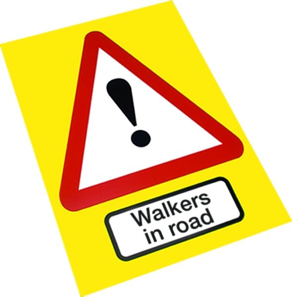 walkers-in-road